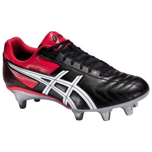 Asics Men's Lethal Tackle Rugby Boots Black Red Rugby Football Soccer Cleat