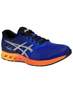 fuzeX (Mens) Cushioned Running Shoes (Asics Blue/Hot Orange)