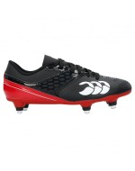 Kid's Phoenix Raze SG Rugby Boot (Black/True Red)
