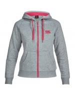 Woman's Zipped Hoody - Classic Marl/Beetroot