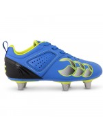 Kids Phoenix Club 6 Stud Rugby Boots - Victoria Blue / Sulpher
