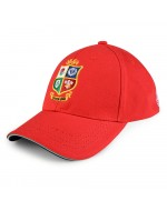 British & Irish Lions Rugby Adjustable Baseball Cap -  Tango Red