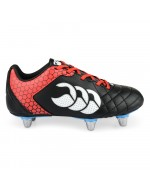 Stampede Club 6 Stud Rugby Boot (Black/True Red)