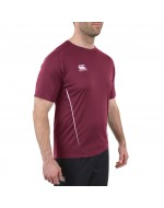 Team Dry Performance Gym Tee Shirt - Maroon