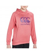 Girls Poly Fleece OTH Hoody (Azalea Marl)