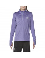 Girls Vapodri 1/4 Zip Top (Purple Opulence Marl)