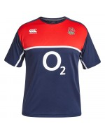 England Rugby Poly Training Tee - Navy (2015-2016)