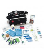 Medical Run-On Bag with Medical Supplies and Spray Bottle