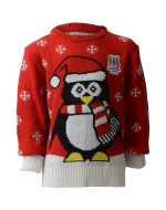 Kids Ulster Rugby Xmas Jumper - Penguin