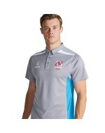 Men's Ulster Rugby Performance Polo Shirt - Heather Grey/Cyan (2016-2017)