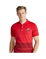 Men's Ulster Rugby Yarn Dye Polo Shirt - Red (2016-2017)