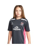 Kids Ulster Rugby Gym Tee - Charcoal/Hot Pink (2016-2017)