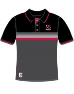 Men's Ulster Rugby Yarn Dye Knit Polo - Black (2017-2018)