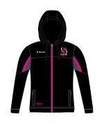 Girl's Ulster Rugby Blast Fleece Hoodie - Black/Hot Pink (2017-2018)