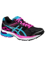 Gel-Pulse 7 (Womens) Cushioned Running Shoes (Black/Pink)