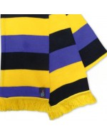 Wacky Scarf Purple-Black-Yellow