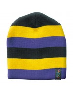 Wacky Beanie Hat - Purple/Yellow/Black