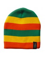 Wacky Beanie Hat - Orange/Yellow/Green