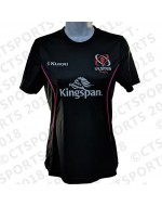 Women's Ulster Rugby Performance Athletic Fit Tee - Black (2018-2019)