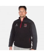 Men's Ulster Rugby 1/4 Zip Mid Layer Fleece - Black (2017-2018)