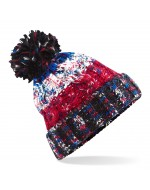 Cable Knit Pom-Pom Beanie Hat (Black Jacks)