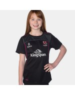 Girl's Ulster Rugby Performance Athletic Fit Tee - Black/Pink (2017-2018)