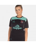 Women's Ulster Rugby Performance Athletic Fit Tee - Black/Cyan (2017-2018)