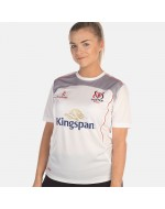 Girl's Ulster Rugby Performance Athletic Fit Tee - White (2017-2018)