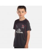 Kid's Ulster Rugby Performance Athletic Fit Tee - Charcoal (2017-2018)