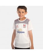 Kid's Ulster Rugby Performance Athletic Fit Tee - White (2017-2018)