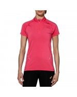 Short Sleeve 1/2 Zip Top (Ultra Pink)
