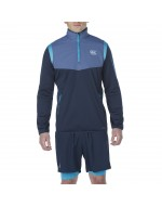 Thermoreg 1/4 Zip Spacer Run Fleece (Total Eclipse)