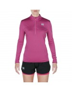 Women's Vapodri Poly 1/4 Zip (Fuchsia Red Marl)