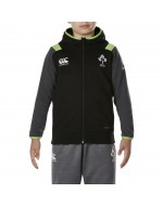 Kid's Ireland Rugby IRFU Fleece FZ Hoody - Tap Shoe (2017-2018)