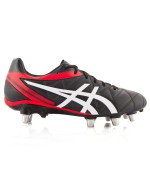 Lethal Scrum Rugby Boots (Black/White/Vermillion)