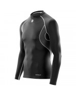 Men's Carbonyte Baselayer - Thermal Long Sleeve Top Round Neck BLACK