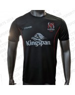 Men's Ulster Rugby Performance Athletic Fit Tee - Black (2018-2019)