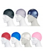 Adult & Junior Moulded 100% Silicone Swimming Caps