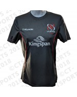 Women's Ulster Rugby Performance Athletic Fit Tee - Charcoal (2018-2019)