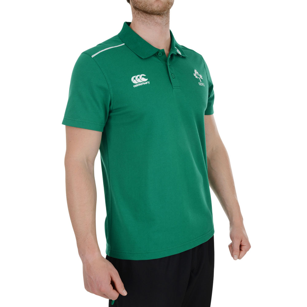 Canterbury Ireland Rugby Cotton Training Polo Green