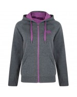 Woman's Zipped Hoody - Charcoal/Purple