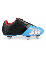Phoenix Club 6 Stud Rugby Boot (Black/Dresden Blue)