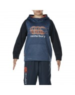 Boy's Fleece Over-Head Hoody (Denim Marl/Total Eclipse)