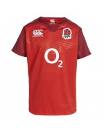 England KIDS Alternate Pro Rugby Shirt - True Red (2015-2016)