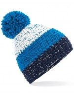 Freestyle Pom-Pom Beanie Hat (White/Azure/Oxford)