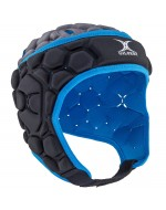 Falcon Rugby Headguard (Black/Electric Blue)