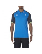 Ireland Rugby Vapodri Cotton Pique Polo - Electric Blue Lemonade (2017-2018)