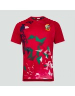British & Irish Lions Rugby Breathable Gym Tee (RED)