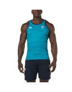 Ireland Rugby Gym Vest - Tile Blue