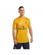 Men's Ulster Rugby Technical Athletic Fit Tee - Amber (2021-2022)